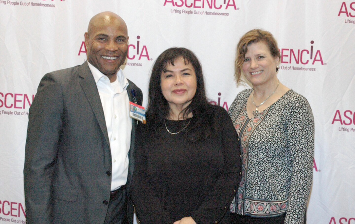 Board member Terry Walker, from left, Tippy Boonkokua, branch manager of HomeStreet Bank, and Ascencia Executive Director Natalie Profant Komuro.