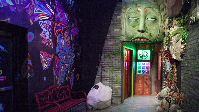 Scores of artists put their creative stamp on the dozens of hidden corridors and rooms inside the House of Eternal Return, which began inviting inquisitive guests this spring.