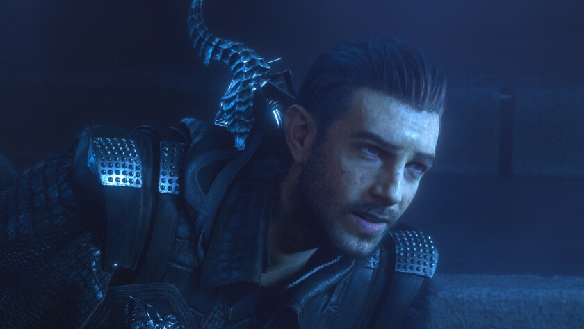 """The character Nyx Ulric, voiced by Aaron Paul in """"Kingsglaive: Final Fantasy XV."""""""