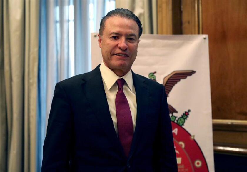 """Fotografía facilitada por la Embajada de México, del Gobernador de Sinaloa (México), Quirino Ordaz, que ha calificado a Sinaloa como un destino """"confiable"""" para el turismo y la inversión. EFE"""