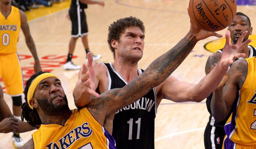 Jordan Hill, Brook Lopez