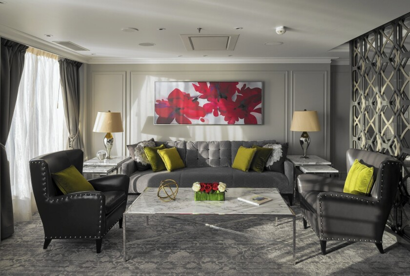 Crystal Serenity penthouse living room