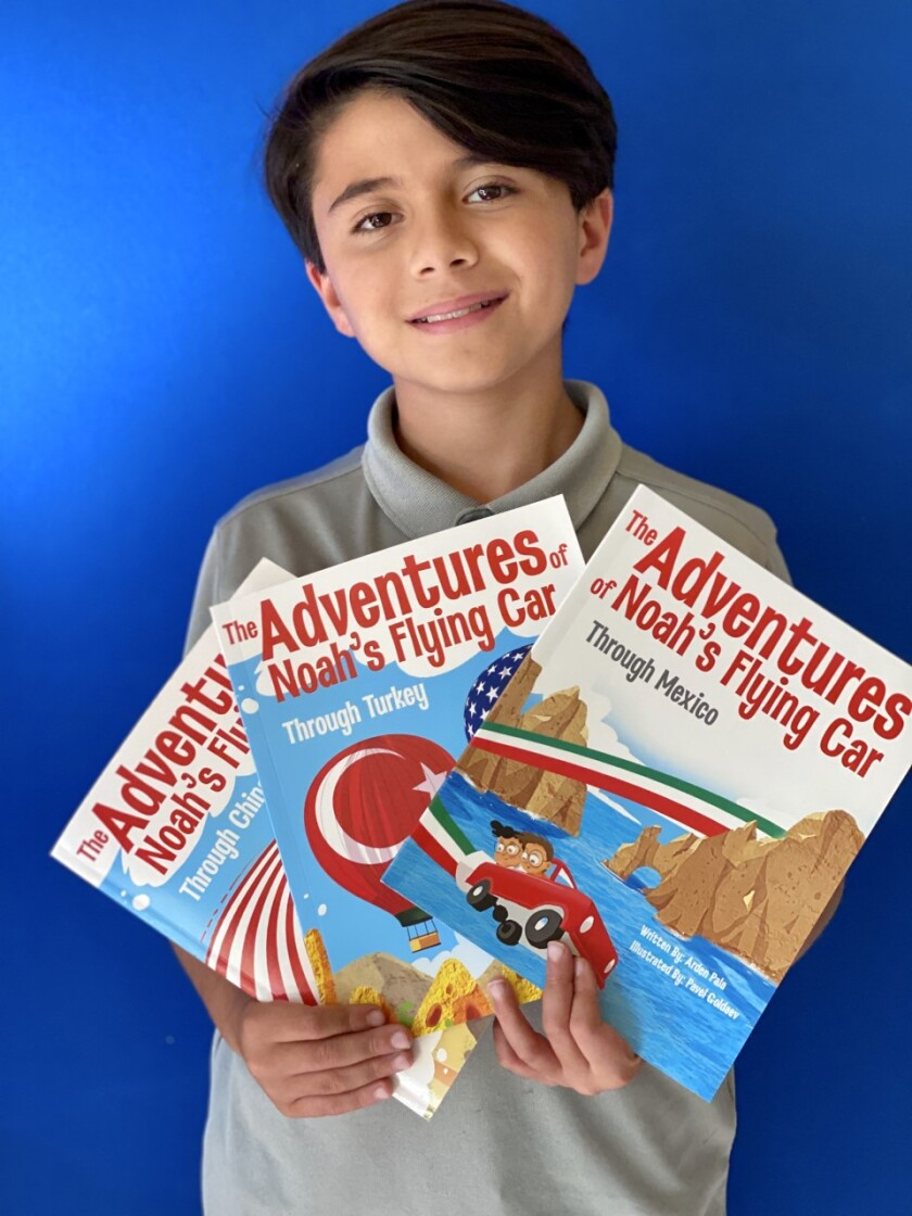 "Rancho Bernardo 11-year-old Arden Pala just published his third book, ""The Adventures of Noah's Flying Car Through Mexico."""