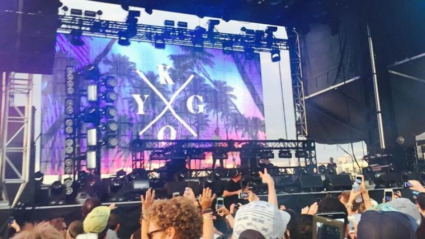 Kygo performed at the Ocean View Live stage of CRSSD Fest on Sunday, Oct. 11, 2015. (/ Michelle Dederko)