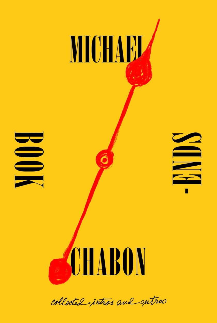 """A book jacket for Michael Chabon's """"Bookends: Collected Intros and Outros."""" Credit: Harper Perennial"""