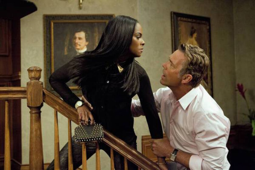"""Tika Sumpter and John Schneider star in """"The Haves and the Have Nots."""""""