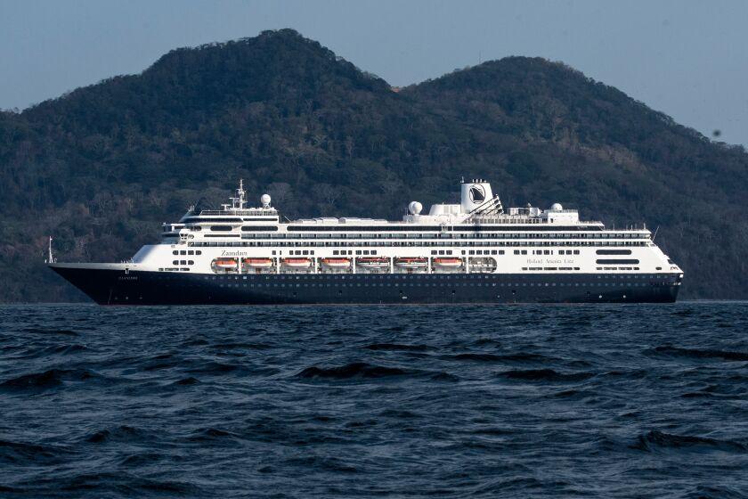The Zaandam cruise ship off the Panama coast on Friday.