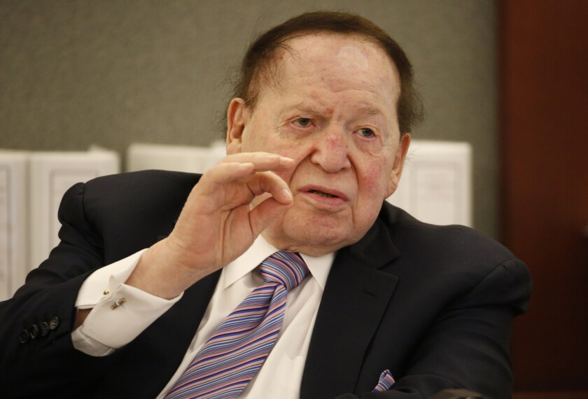Las Vegas Sands Corp. Chairman and Chief Executive Sheldon Adelson is behind the purchase of the Las Vegas Review Journal, a transaction shepherded by his son-in-law.