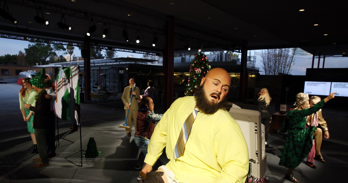 Tipsy co-workers, ugly sweaters: The all-too-real office holiday party at LACMA