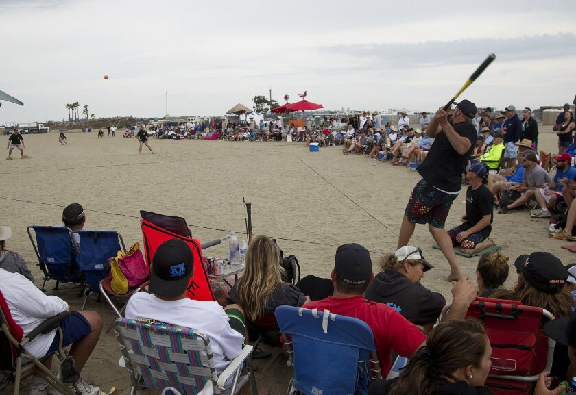 The World Championship Over-the-Line tournament hosted by the Old Mission Beach Athletic Club has been played annually in mid-July on Fiesta Island since 1974.