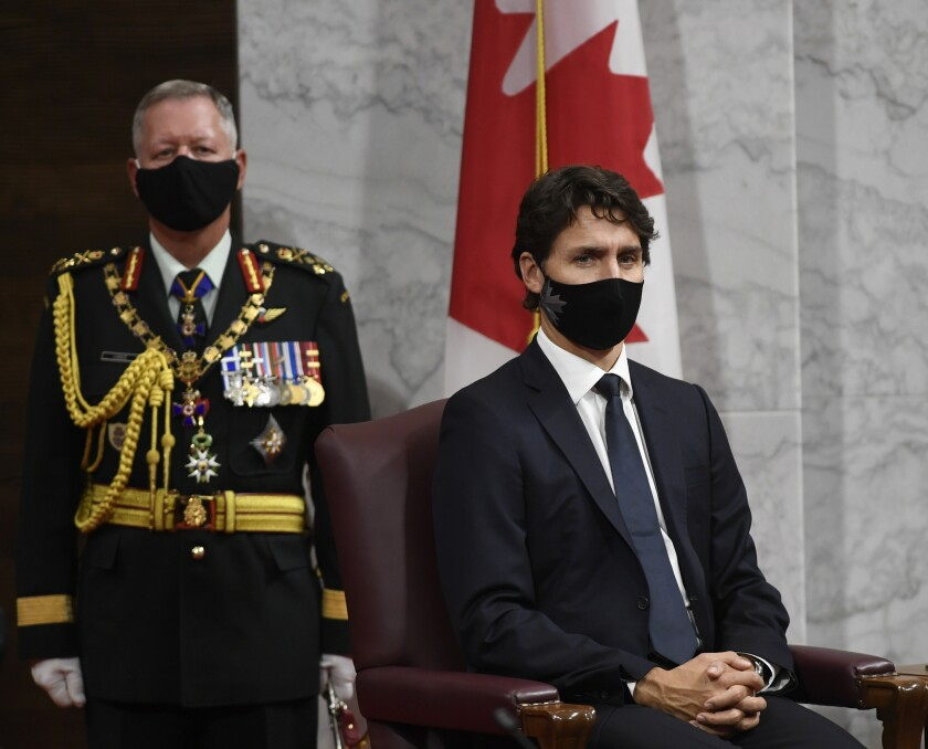 Canadian Prime Minister Justin Trudeau and Chief of Defence Staff Jonathan Vance