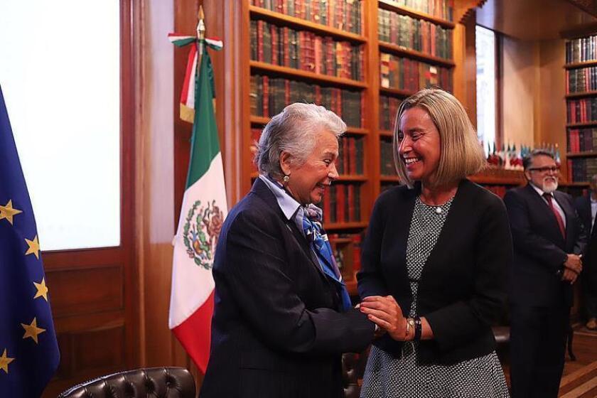 Mogherini se pronuncia en Senado mexicano por profundizar alianza México-UE