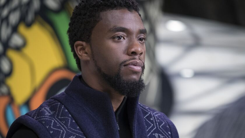 """Black Panther/T'Challa (Chadwick Boseman) in a scene from Marvel's """"Black Panther."""" Credit: Film Fr"""
