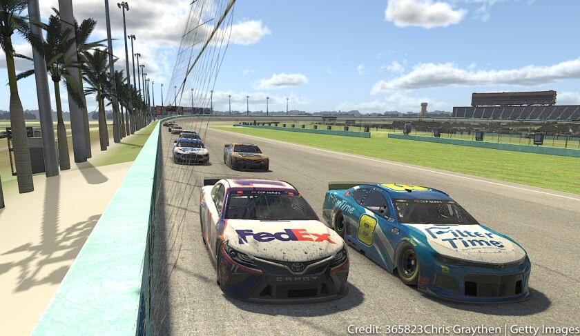 Denny Hamlin and Dale Earnhardt Jr. lead the field