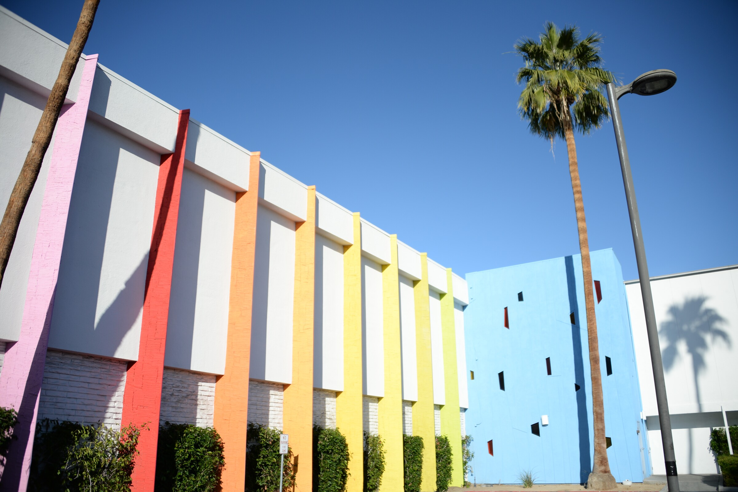 An exterior shot of The Saguaro Hotel, one of the (aesthetic) pit stops on my road trip to Indio.