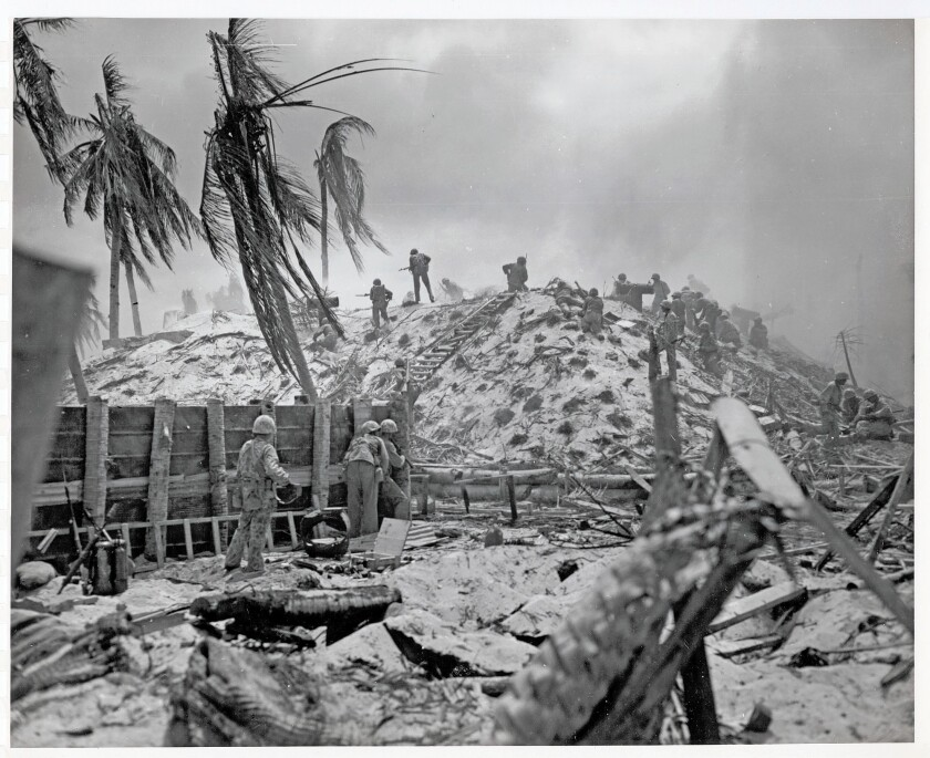 """The November 1943 battle for Tarawa Atoll, still known among Marines as """"Bloody Tarawa."""""""