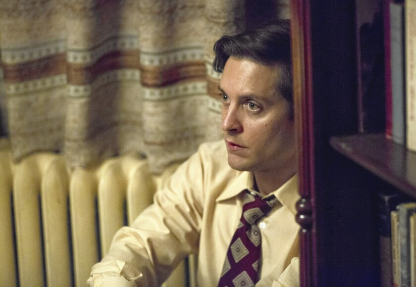 """Tobey Maguire as Bobby Fischer in """"Pawn Sacrifice"""""""