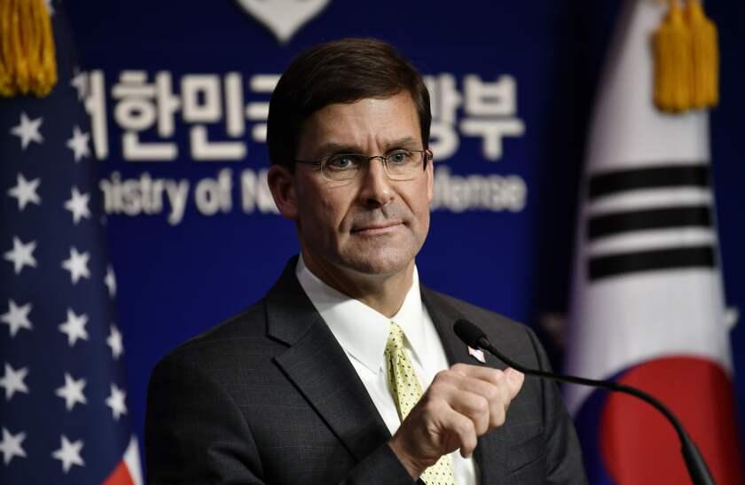Defense Secretary Mark Esper
