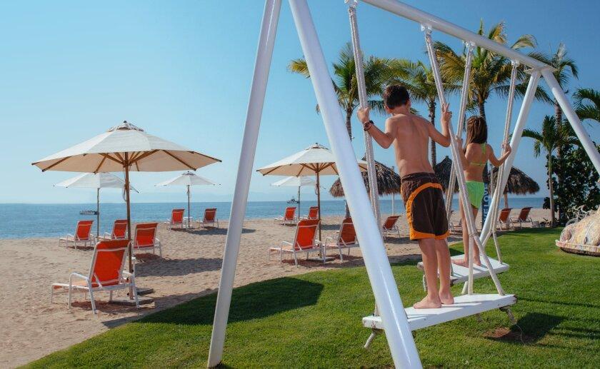 The beach club at Riviera Nayarit's Matlali resort.