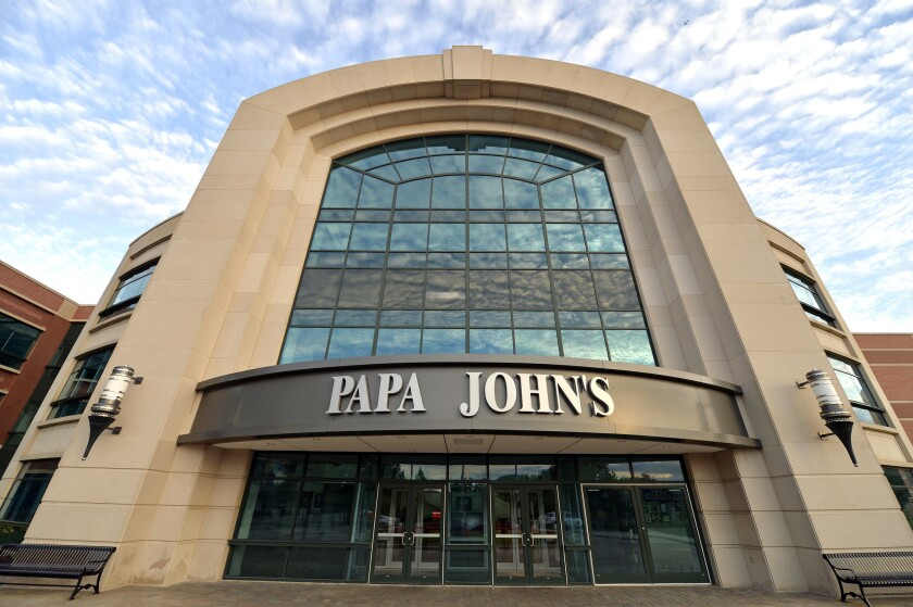The corporate headquarters of Papa John's Pizza located on their corportae campus, Tuesday, July 17, 2018, in Louisville, Ky.