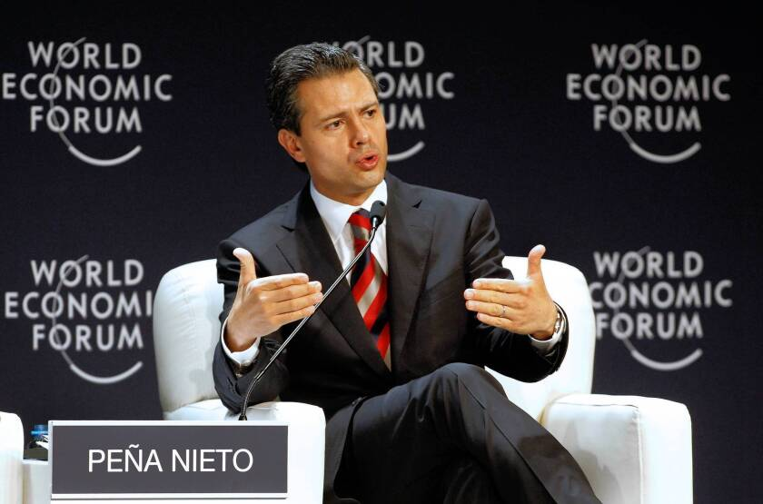 Mexican President Enrique Peña Nieto, pictured last week during a forum in Lima, Peru.