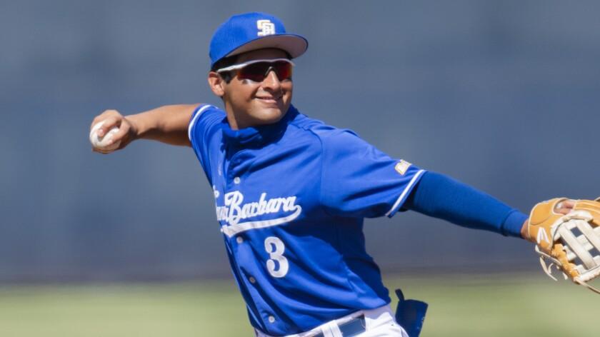 UC Santa Barbara shortstop Marcos Castanon