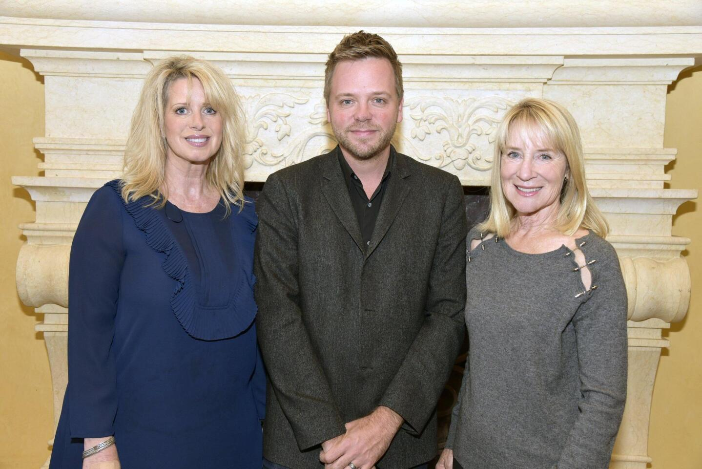 Kelly Colvard of Northern Trust Events and Marketing, author Nathan Hill, Rancho Santa Fe Literary Society President Candace Humber