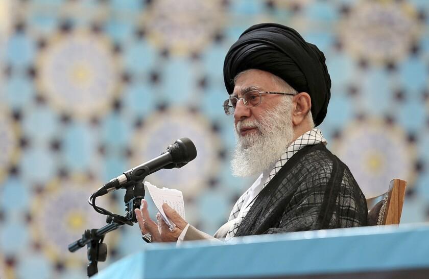 Ali Khamenei at anniversary of Khomeini death