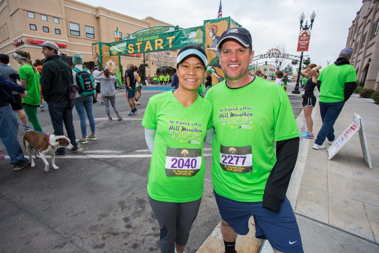 Runners donned their green gear to participate in the St. Patrick's Day Half Marathon and 5K in El Cajon on March 5, 2017. (Bradley Schweit)