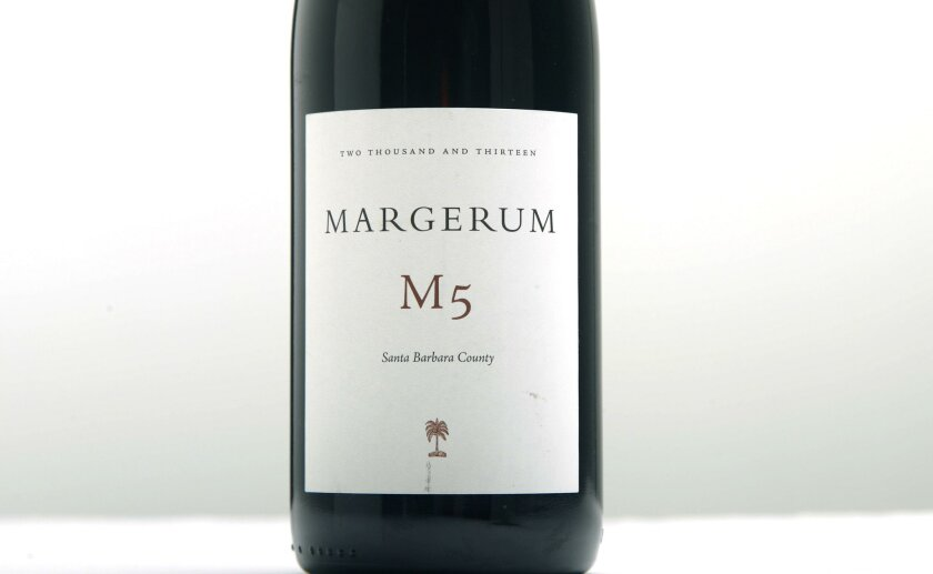 The Margerum M5 a signature wine from iconic Santa Barbara winemaker Doug Margerum.