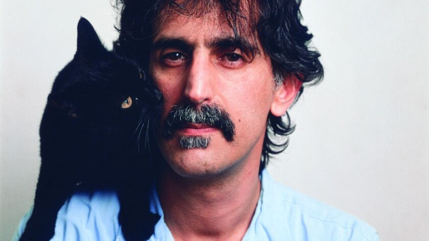 """An image from the movie """"Eat That Question: Frank Zappa in His Own Words"""" of Frank Zappa."""
