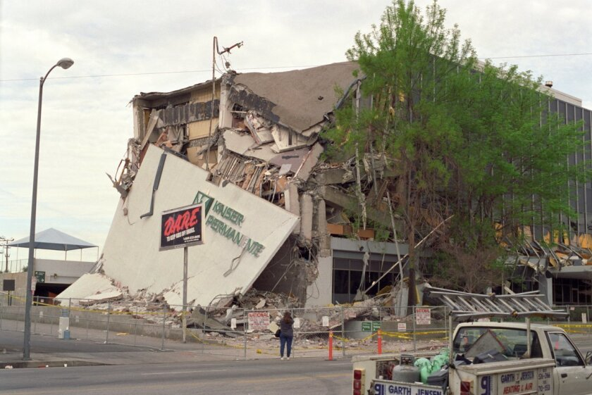 Damage caused by the 1994 Northridge earthquake.