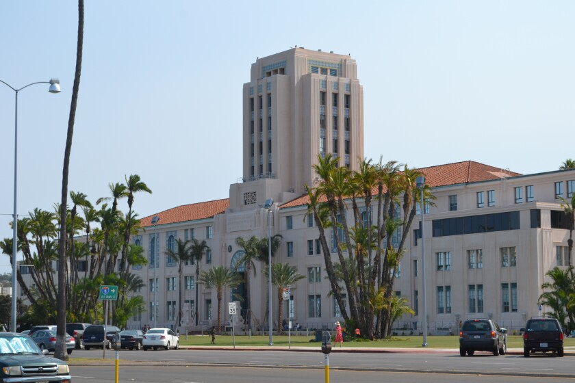 File photo of the County Administration Center downtown.
