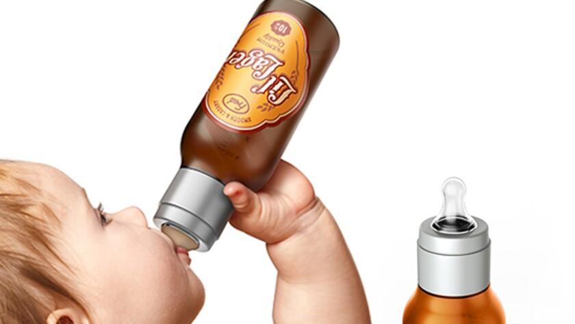 Baby beer bottles