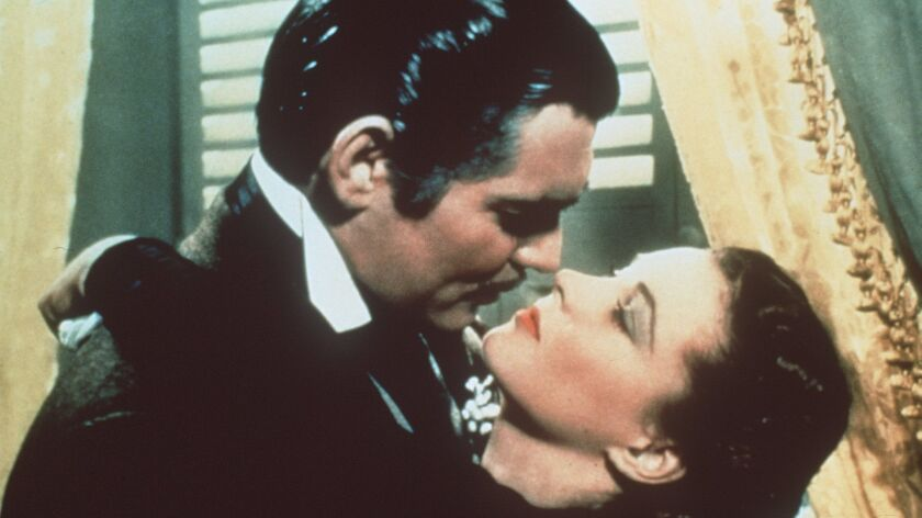 """Clark Gable and Vivien Leigh play Rhett Butler and Scarlett O'Hara in """"Gone With the Wind."""""""