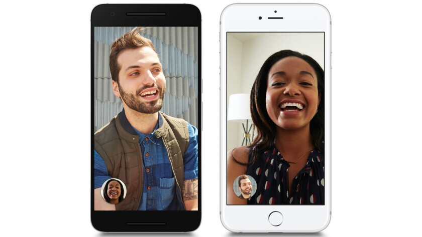 Google's new Duo video chatting app was released Tuesday as a free service for Android phones and iPhones.