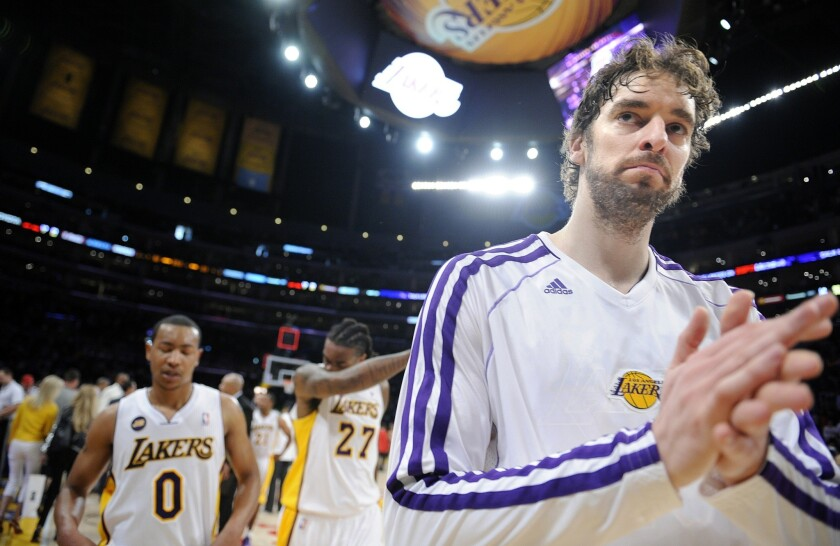 Pau Gasol will be part of the Lakers' plans next season with Dwight Howard leaving Los Angeles for the Houston Rockets.