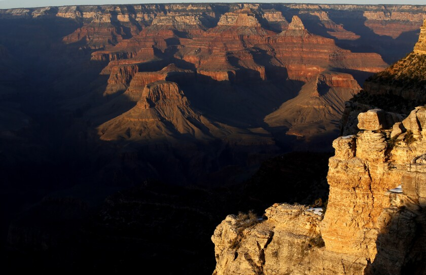 Formed by the meandering Colorado River, the Grand Canyon is 277 miles long, 18 miles wide and a mil