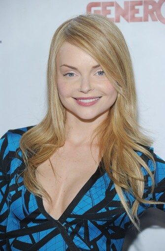 Actress Izabella Miko arrives.