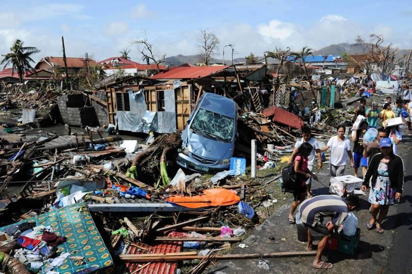 Typhoon Haiyan's trail of destruction in  Philippines