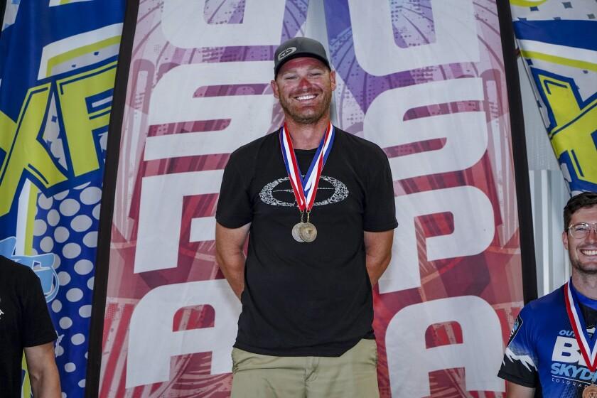 Skydiver Bryan Buffaloe of San Diego