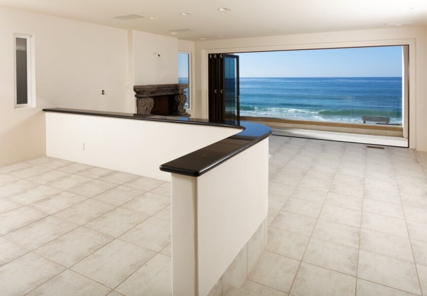 View from the living room of home sold by Mickelson on Windansea Beach in La Jolla.