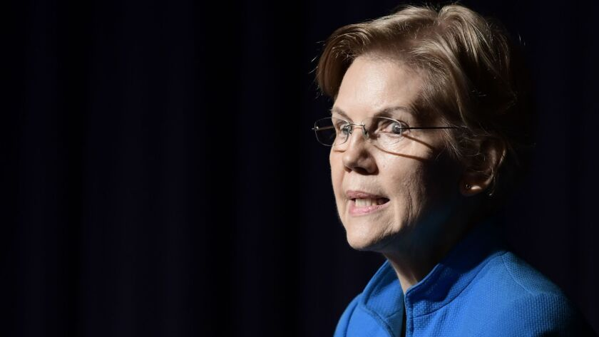 Elizabeth Warren, United States senator from Massachusetts and one of the many Democrats running for