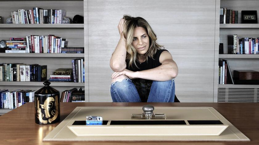 """The reality star and fitness guru describes her home office as functional and stylish but """"not overly pretentious or obnoxious."""""""