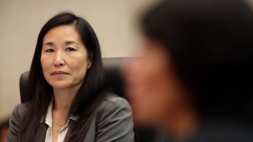Los Angeles County Chief Executive Sachi Hamai, shown in 2015, on Monday released a proposed $30.8-billion budget for next year.