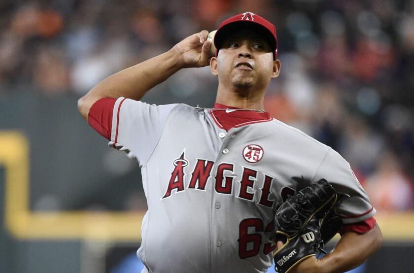 Angels starter Jose Rodriguez delivers.