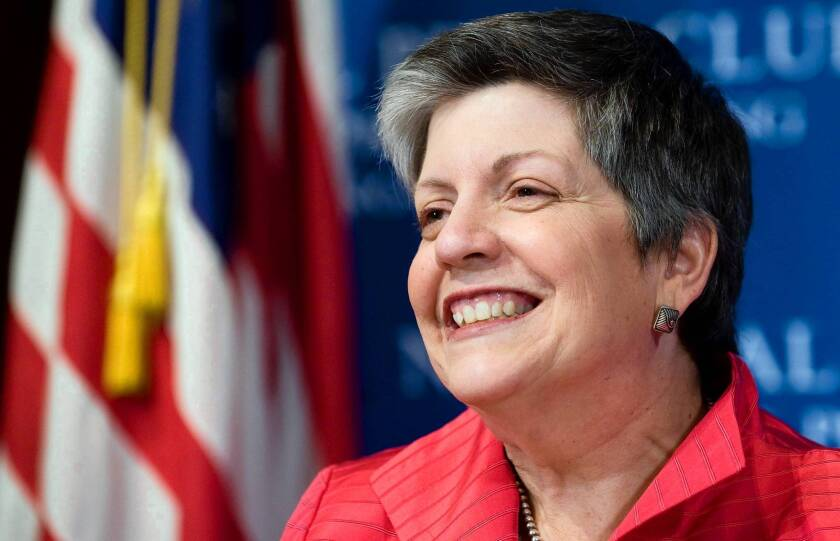 Besides being the first woman expected to be named president in UC's 145-year history, Janet Napolitano is thought to be only the second true outsider and the first without any record of helping to run a university.