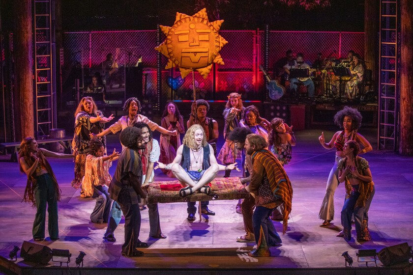 """The Old Globe production of """"Hair, the American Tribal Love-Rock Musical."""""""