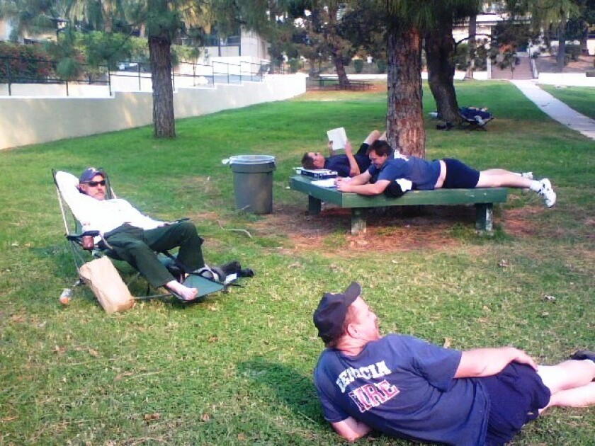 When firefighters from Benicia finally came off the line this morning, they were too tired to sleep.