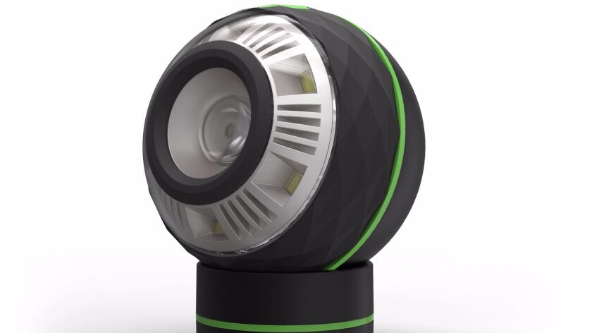 round bulb is about the size of a baseball and packs 250 lumens with high and low settings.